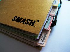 Smash book. Sounds easier than scrapbooking.I love this...gonna start doing this!!!