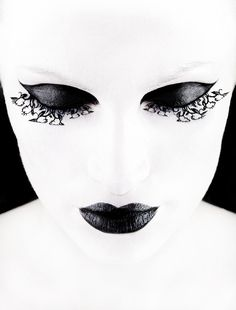 black and white make up  #style #fantasy #beauty #makeup #cosmetics #editorial #photography #lashes