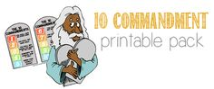 Freebie: 10 Commandment Printable Pack