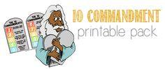 Freebie: 10 Commandment Printable Pack