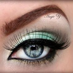 Turquoise & Gold #eyes #makeup