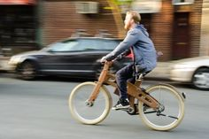 The World's First Electric Bicycle Whose Frame Is Made Entirely Out Of Wood