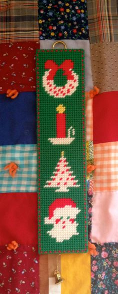 Plastic Canvas Holiday Hanger