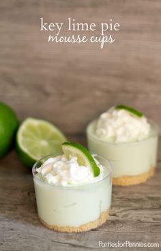 Mini Dessert | Key Lime Pie Mousse Cup | PartiesforPennies.com #dessert #recipe #minidessert