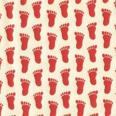 RED Footprint Slipper Grippers Non-Slip Anti-Skid Fabric by LilBabyThangs for $4.95