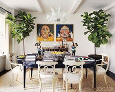 Pair Of Fiddle Leaf Fig - Indoor Trees -