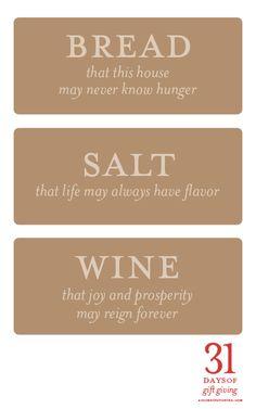 bread salt wine housewarming gift tags