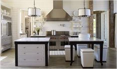 Gorgeous kitchen layout and accents