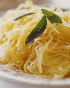 "Spaghetti Squash with Sage and Orange: Enjoy ""pasta"" made from sweet, nutritious spaghetti squash, Wholeliving.com (Vegan)"