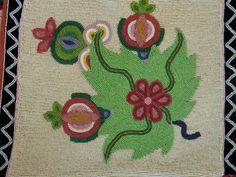 floral beadwork bandolier bags | Ojibwe Bandolier Bag