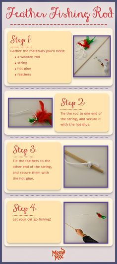 How to make a feather fishing rod!