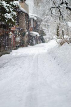 A path through the snow...