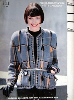 1980 cardigan jacket  created by Jean-Paul Gaultier.