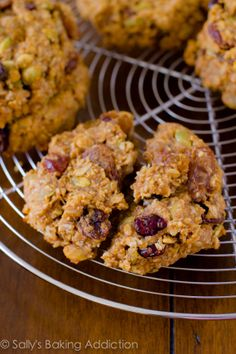 Quick & easy Breakfast Cookies.  Dump all of the healthy ingredients into a bowl and mix!  They are ready within 30 minutes. Grab them and go!