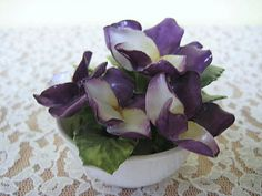 coalport bone china vintage violet flower by gracealleytreasures, $38.00