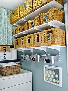 Oh yes! Basket love in the laundry room!