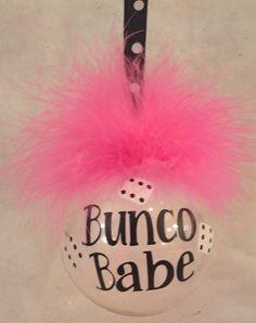 Bunco Babe Ornaent --crazy fun!
