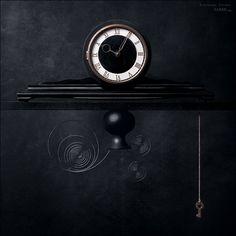 black on #black #clock