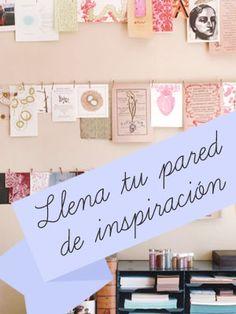 Llena tu pared de inspiración: tendedero de fotos