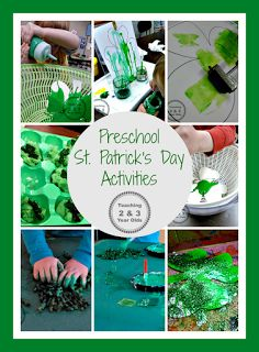 Preschool St. Patricks Day Activities - Teaching 2 and 3 Year Olds