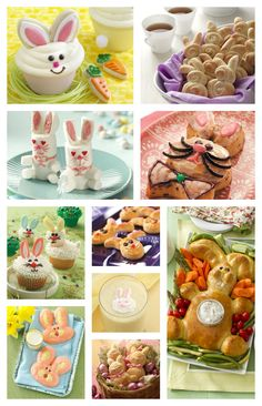 Bunny-Shaped Recipes #Easter #EasterIdeas #Easterfood #food #dessert #treats #sweets #DIY #howto #cookies #thematic