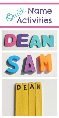 5 Quick Name Activities for Helping Kids Learn to Spell Their Names~And tips for how we integrate these activities into our daily schedule