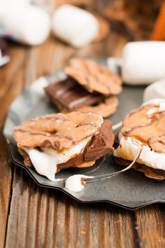 The BEST s'more I've ever had. Peanut butter pretzel crisps instead of grahams! ohsweetbasil.com