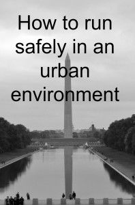 Running safely in an urban environment