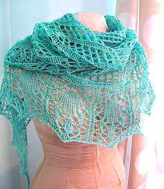 Free Knit Shawls Pattern eBook #2 via Craftsy