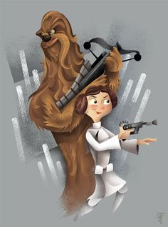 Great series of Star Wars inspired art created by Dave Moss!