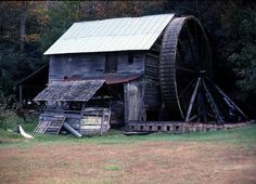 Morgan's Mill in Cherryfield, Transylvanis Co., NC.  (Mill is no longer here.  All that remains are the stands with the water wheel.