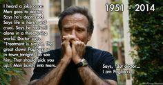 Robin Williams the sad clown
