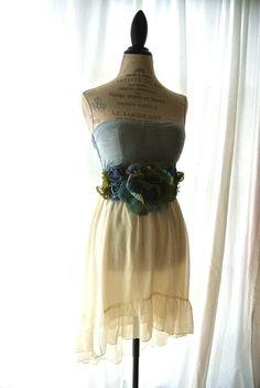 Rustic denim fishtail dress gypsy cowgirl by TrueRebelClothing, $72.00