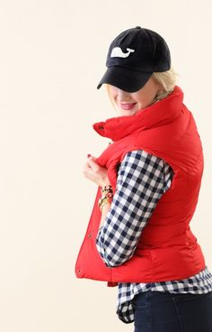 hats, gingham, vests outfits, red vest, vineyard vines hat outfit, plaid shirts, vineyard vines vest, old navy, blues