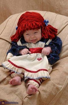 DIY Raggedy Ann costume - so cute!