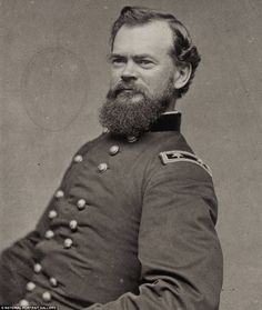 James B. McPherson (1828-1864), who died at the Battle of Atlanta, was one the highest-ranking Union soldiers killed in the war - The Civil War warriors: Fascinating photographs of the Union generals who kept the U.S. together 150 years ago www.dailymail.co....