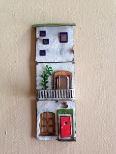 Vitreous enamel on copper. 23 x 7.5 cm By Janne Pond  www.mysecretpond.com