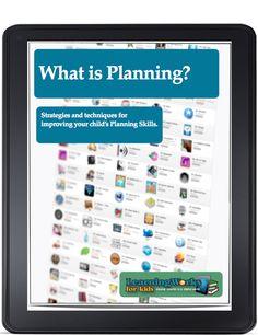 Strategies to improve planning.