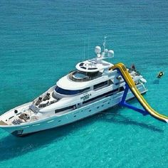 Water-slide yacht. | #TreatYoSelf #ParksandRec