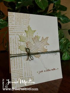 Clean and Simple using Stampendous stamps.