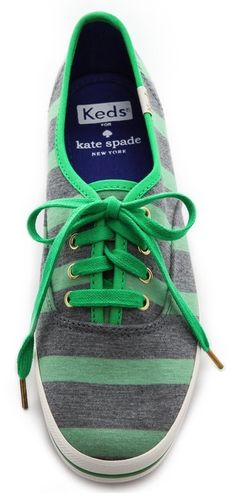 Kate Spade striped sneakers  http://rstyle.me/n/mwjawpdpe