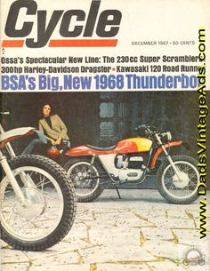 1967 Ossa 230 Pioneer and Stiletto Road Tests / Specs