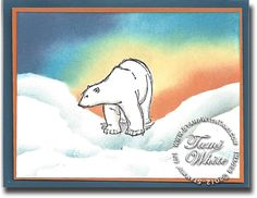 """Stampin' Up! Polar Bear card and info on """"adopting a polar bear"""". Video tutorial for the card too."""