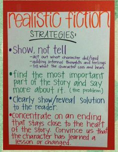 Realistic Fiction Strategies