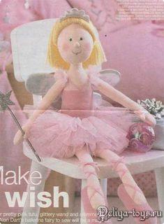 ARTESANATO FOFO: De pano -Boneca de Pano Bailarina
