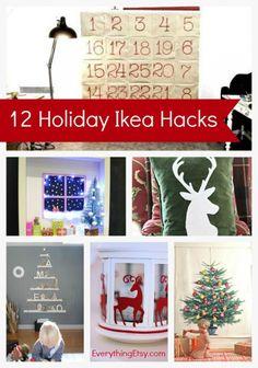 12 Holiday Ikea Hacks - These are awesome! EverythingEtsy.com #ikea #ikeahack #holiday #Christmas