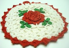 crocheted hot pad