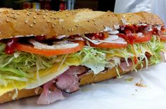 The Bomb at Sal, Kris, and Charlie's Deli in Astoria - just one of Astoria's 7 top sammies