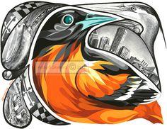 Beautiful Baltimore Orioles print http://www.artbycraigdrenning.com/
