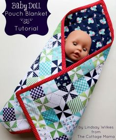 Southern Fabric: Tutorial: Baby Doll Pouch Blanket